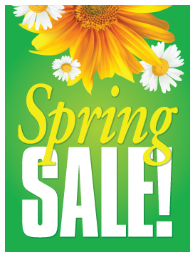spring sale sign