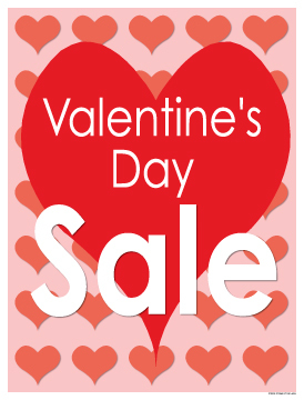 Seasonal Sale Signs Posters Valentineu0027s Day Sale