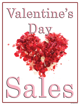 seasonal sale signs posters valentines day sale flowers - Valentine Sale