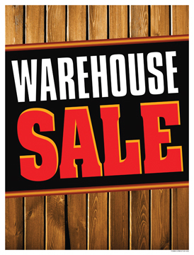 Retail Sale Signs Posters Warehouse Sale wood