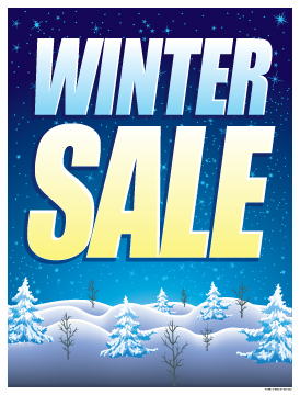 "Sale Signs Posters 22""x28"" Winter Sale"