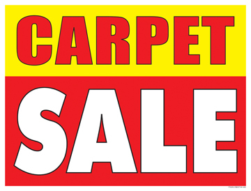 Sale Sign Poster 33 X 25 Carpet Sale Horizontal