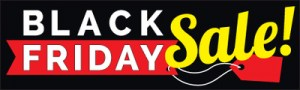 Christmas Holiday Retail Sale Banners 3' x 8' Black Friday Sale