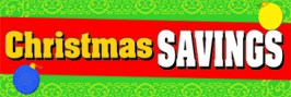 Retail Sale Banners Christmas Savings