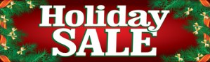 Retail Sale Banners Holiday Sale holly Seasonal