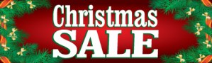 Retail Sale Banners Christmas Sale holly Seasonal