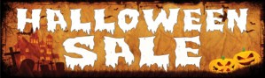Retail Sale Banners 3' x 8' Halloween Sale
