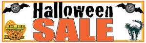 Retail Sale Banners 3'x8' Halloween Sale