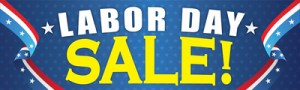 Patriotic Retail Sale Banners 3' x 10' Labor Day Sale Business Store Signs