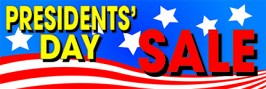 Retail Sale Banners 3' x 8' Presidents Day Sale