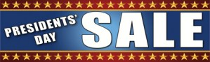 Retail Sale Banners Presidents' Day Sale