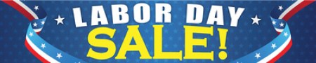 Holiday Store Banner 4' x 20' Labor Day Sale Business Store Signs