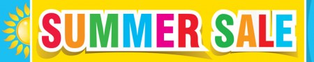 Retail Banner 4' x 20' Summer Sale (multi color)