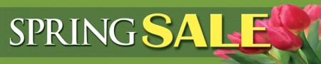 Seasonal Store Banner 4' x 20' Spring Sale (tulips)