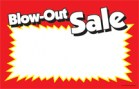 Price Card/Sign Cards Blow Out Sale