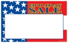 Patriotic Price Cards/Sign Cards Holiday Sale flag design