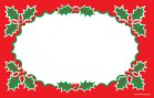 Christmas Price Cards/Sign Card Holly Border