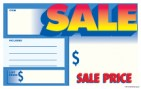 "Sign Cards Shelf Talkers 3 1/2"" x 5 1/2"" Sale Price List Price"