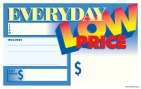 "Sign Cards Shelf Talkers 3 1/2"" x 5 1/2"" Everyday Low Price"