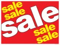 Horizontal Poster Sale Sale Sale red yellow