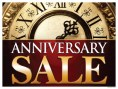 Sale Sign Poster 33'' x 25'' Anniversary Sale horizontal