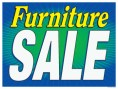 Sale Sign Poster 33'' x 25'' Furniture Sale horizontal
