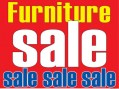 Sale Sign Poster Furniture Sale horizontal