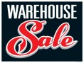 Sale Sign Poster 33'' x 25'' Warehouse Sale horizontal