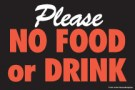 Store Policy Signs 6in x 9in Please No Food or Drink