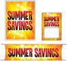 Retail Promotional Sign Mini Small and Large Kits 4 piece Summer Savings