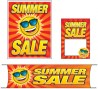 Retail Promotional Sign Mini Small and Large Kits 4 piece Summer Sale sun