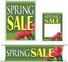 Retail Promotional Sign Mini Small and Large Kits 4 piece Spring Sale tulips