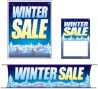 Retail Promotional Sign Mini Small and Large Kits 4 piece Winter Sale trees