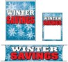 Promotional Small Sign Kit 4 piece Winter Savings