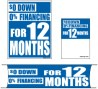 Promotional Small Sign Kit 4 Piece 0% Down 0% Financing