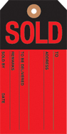 Slotted Sold Tag 2 3/8in x 4 3/4in 500pk red/black