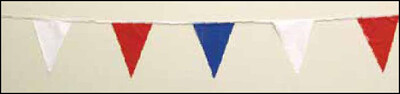 Patriotic 120' String Pennant (red,white,blue)