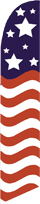Swooper Feather Flags 11.5' x 2' Patriotic Stars Stripes Windless