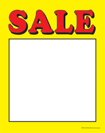 Slotted Sale Tags Sale yellow