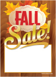 Slotted Seasonal Sale Tags 5in x7in Fall Sale wood