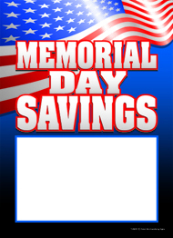 Memorial Day Saving Sales Tag