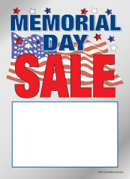 Holiday Slotted Sale Tags 5 X 7 Memorial Day Sale