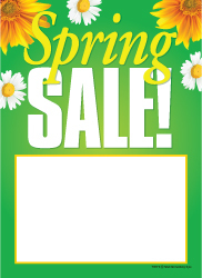 "T50 5"" x 7"" Spring Sales Tags"