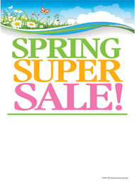 Seasonal Slotted Sale Tags 5in x 7in Spring Super Sale