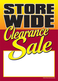 Slotted Sale Tags 5in x 7in Store Wide Clearance Sale
