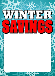 New Winter Savings Tag