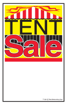 Retail Elastic String Tag Tent Sale