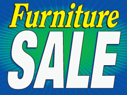 "18"" x 24"" Lawn Sign Furniture Sale burst"