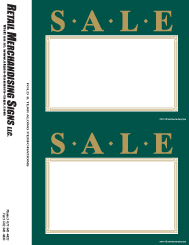 PC Printable Laser Price Tags 5 1 2in X 7in Sale Green Gold