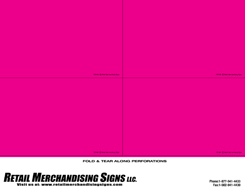 PC Printable Laser Price Tags 3 1/2  x 5 1/2 Magenta blank